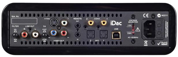 Peachtree Audio iDac - Rückseite