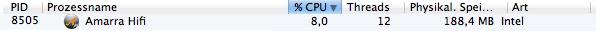 CPU-Last voniTunes mit Amarra HiFi