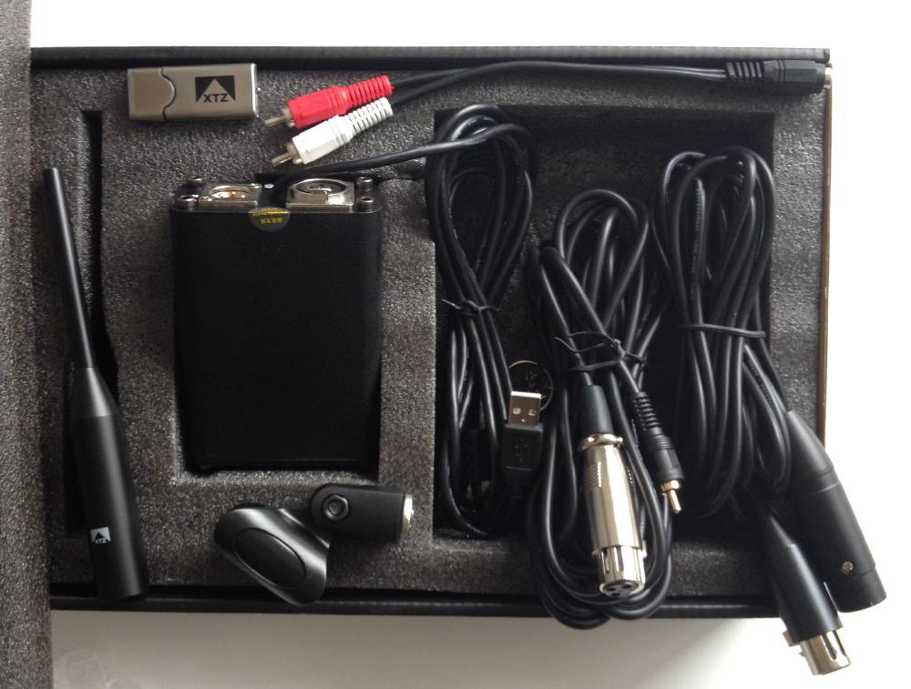 Alles dabei: Der Lieferumganf des XTZ Microphone Pro ist umfangreich, es fehlt nur ein Stativ