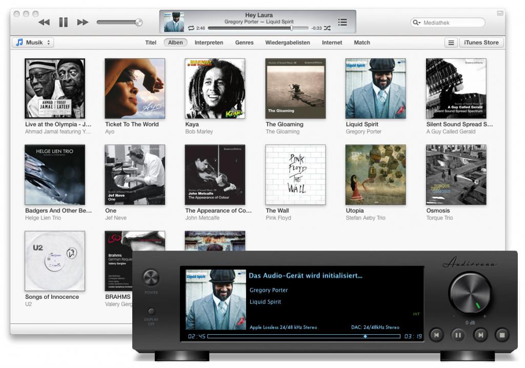 Den bekannten schwarzen Player gibt es nur noch im iTunes-Mode zu sehen