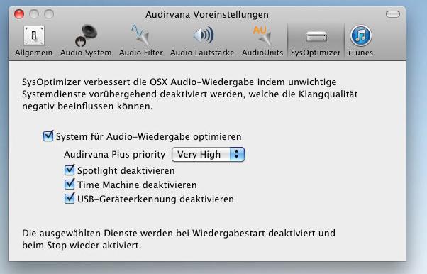 Audirvana Plus 2 umschifft konsequent alle Einflüsse von iTunes und dem System