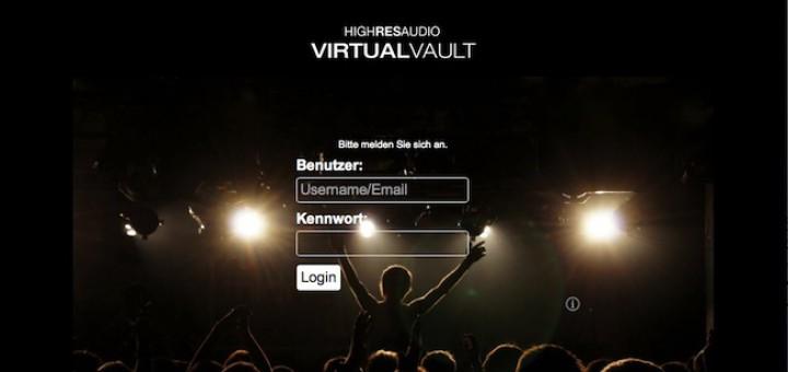 Exklusiver Service: HighResAudio bietet mit VirtualVault einen kostenlosen Streaming-Dienst für seine Kunden an