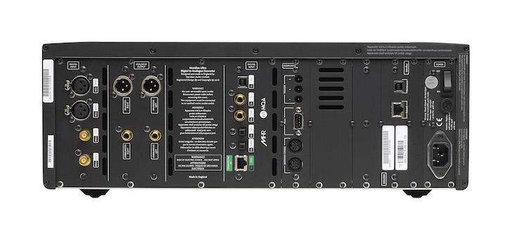 Zugänglich: Der Meridian Ultra DAC bietet vielfältige Anschluss-Möglichkeiten