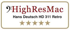 HighResMac Testergebnis Hans Deutsch HD 311 Retro – 5 Sterne