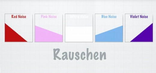 Je nach Farbe ein anderes Frequenzspektrum – Rauschen kann beim Einspielen der Anlage helfen