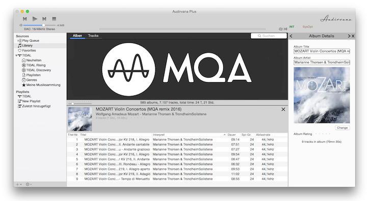 Ende Januar soll Audirvana Plus 3 auf den Markt kommen – mit integriertem MQA-Decoder