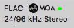Grün bestätigt: Dies ist ein MQA-File
