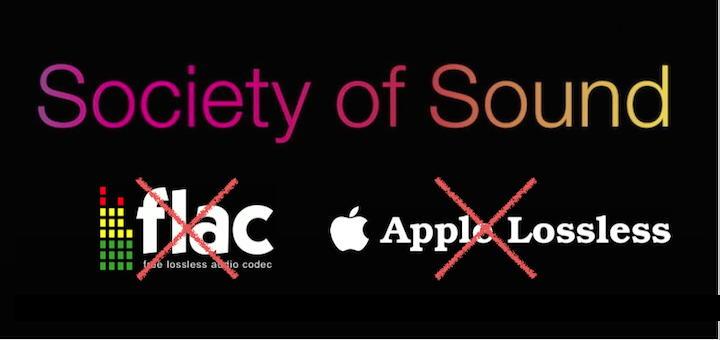 Die Society of Sound plant, ab 18. Mai 2017 FLAC und ALAC nicht mehr anzubieten und stattdessen ausschließlich AIFF bereit zu stellen