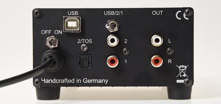 Rück-Blick: Die Anschluss-Vielfalt am neuen DAC von Audio Exclusiv ist übersichtlich
