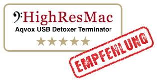 Aqvox USB Detoxer Terminator QL1 und QL2 - Empfehlung von HighResMac im Test