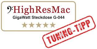 HighResMac Test Gigawatt Steckdose fünf sterne tuning tipp