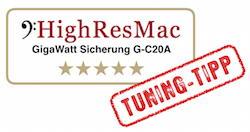 Testergebnis HighResMac für GigaWatt Sicherungs-Automat G-C20A - Fünf Sterne und Tunig-Tipp
