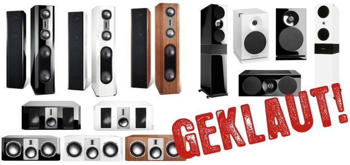 Diebe haben vor Kurzem zahlreiche brandneue Lautsprecher der Marken Quadral und Aurum gestohlen