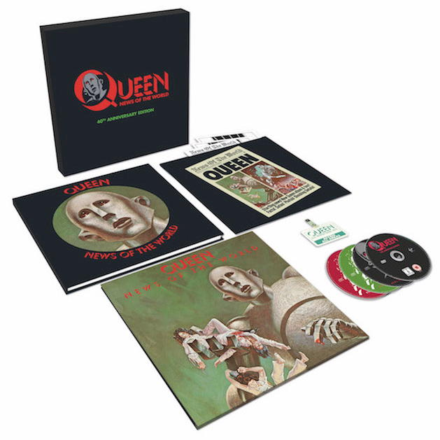 That's in the Box: LP, DVD, CDs, Buch – die 40th Anniversary Edition des Queen-Klassikers News Of The World sorgt für Freude – bestimmt auch unter dem Weihnachtsbaum
