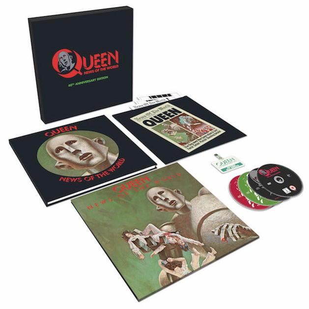That's in the Box: LP, DVD, CDs, Buch – die 40th Anniversary Edition des Queen-Klassikers News Of The World sorgt für Freude – bestimmt auch unter dem Weihnachtsbaum