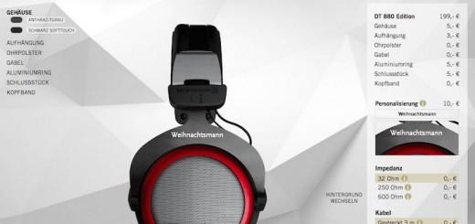 Meins: Der Weihnachtsmann kann sogar Kopfhörer individuell gestalten
