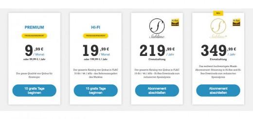 Streaming in vier Qualitäts-Stufen: Qobuz macht es möglich