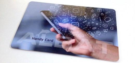Check-Karte statt Scheck-Karte: Die Albat Handy Card zahlt mit Ohr-Gold