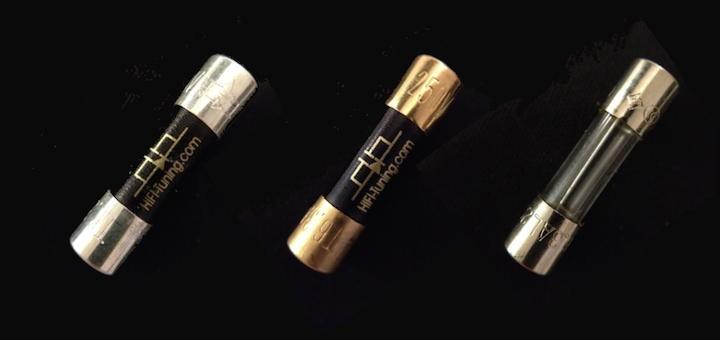 Silber, Kupfer, Blech: Die Feinsicherungen von HiFi-Tuning machen allein schon optisch mehr her als die Massenware