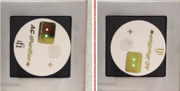 Alles in Ordnung? Der ifi audio AC Purifier zeigt mit roten und grünen LEDs an, ob Erdung und Phase stimmen