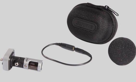 Lieferumfang: Mikrofon, Windschutz, Transportcase und ein Adapterkabel für Kopfhörer