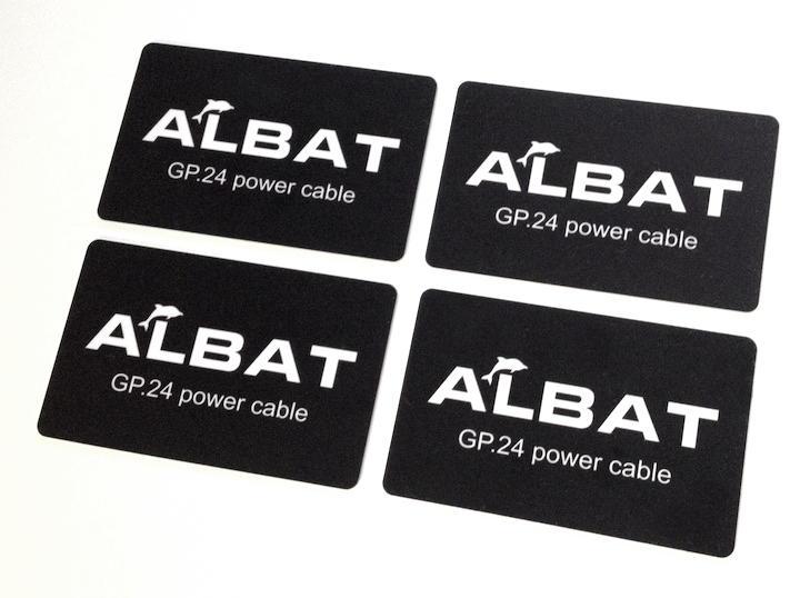 Quartett: Die Albat GP.24 power cable Cards kamen als Viererpack zum Test vorbei