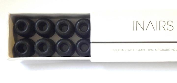 Langer Name für kleine Helfer: die Inairs AIR 2 Ultra Light Foam Tips sorgen dafür, dass Klang ungestört und vollmundig ins Ohr kommt