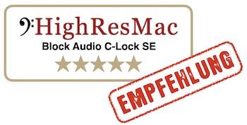 HighResMac Test Blockaudio C-Lock SE Steckdose fünf Sterne Empfehlung