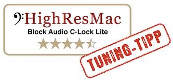 HighResMac Test Blockaudio C-Lock Lite Steckdose 4,5 Sterne tuning tipp